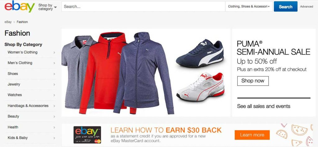 eBay Keyword Research Category Fashion