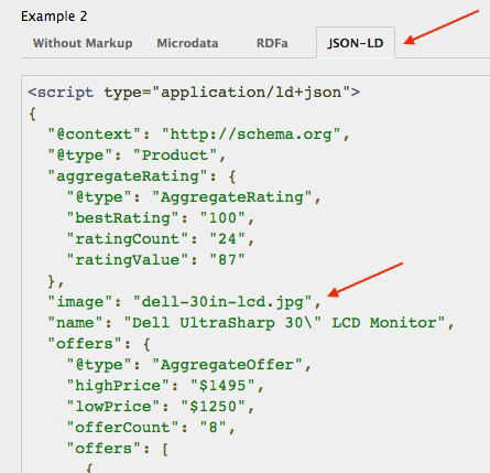 Example Of JSON LD Code