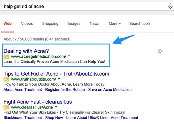 Example Google Ads